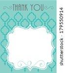 thank you card template elegant ...   Shutterstock .eps vector #179550914