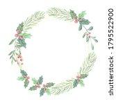 watercolor christmas green... | Shutterstock . vector #1795522900