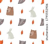 autumn forest and animals... | Shutterstock .eps vector #1795552906