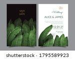 tropical wedding invitation set ... | Shutterstock .eps vector #1795589923