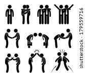 business manner greetings... | Shutterstock .eps vector #179559716