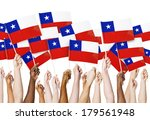 diverse hands holding flags of...   Shutterstock . vector #179561948
