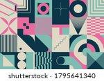 retro future pattern artwork of ... | Shutterstock .eps vector #1795641340