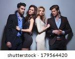 two elegant couples looking... | Shutterstock . vector #179564420