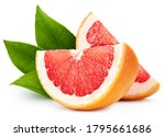Organic grapefruit isolated on...