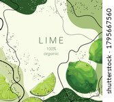 Stylized Green Lime On An...
