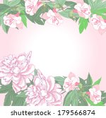 background with two pink ... | Shutterstock .eps vector #179566874