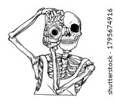 tattoo and t shirt design black ... | Shutterstock .eps vector #1795674916