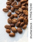papua new guinea roasted coffee ... | Shutterstock . vector #1795675240