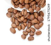 papua new guinea roasted coffee ... | Shutterstock . vector #1795675249
