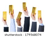 Business People Holding Gold...