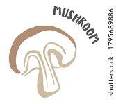 mushroom drawing hand painted... | Shutterstock .eps vector #1795689886