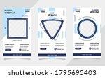 set of minimalist background... | Shutterstock .eps vector #1795695403