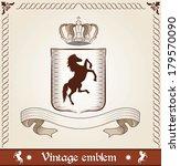 vintage emblem with horse | Shutterstock .eps vector #179570090