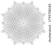 Decorative Floral Mandala With...