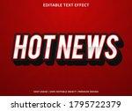 hot news text effect template... | Shutterstock .eps vector #1795722379