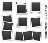 set of photo frames on white... | Shutterstock .eps vector #179575439