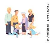 grandmother grandfather parents ... | Shutterstock .eps vector #1795756453
