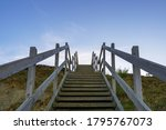 Wooden Steps Heading Down Over...