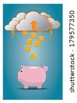 vector of money drop from...   Shutterstock .eps vector #179577350