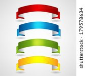 colorful ribbons set | Shutterstock .eps vector #179578634