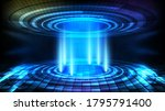 abstract background of round...