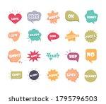 slang bubbles different words... | Shutterstock .eps vector #1795796503