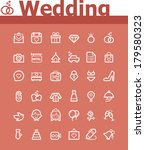 vector wedding icon set