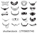 set of cute masks. collection... | Shutterstock .eps vector #1795805740