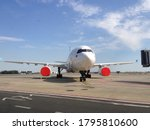 aircraft in hibernation on parking stand