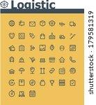 vector logistic icon set | Shutterstock .eps vector #179581319