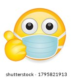 high quality emoticon on white... | Shutterstock .eps vector #1795821913