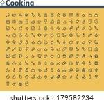 vector cooking icon set | Shutterstock .eps vector #179582234