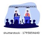 political opponents arguing on... | Shutterstock .eps vector #1795854640