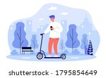 hipster guy with smartphone... | Shutterstock .eps vector #1795854649