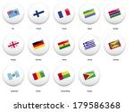 white pin badges with flag of... | Shutterstock .eps vector #179586368
