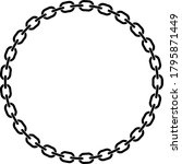 chain links in a perfect circle ... | Shutterstock .eps vector #1795871449