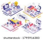 stem education isometric...   Shutterstock .eps vector #1795916383