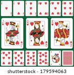 playing cards heart suit  joker ... | Shutterstock .eps vector #179594063