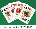 four kings playing cards on a... | Shutterstock .eps vector #179594069