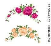 set of garlands of roses.... | Shutterstock .eps vector #1795940716