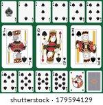 playing cards spade suit joker... | Shutterstock .eps vector #179594129