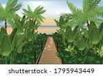 illustration of a wooden path...   Shutterstock .eps vector #1795943449