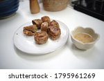 hoi jo crabs fries on white dish   Shutterstock . vector #1795961269