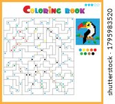 toucan. coloring book for kids. ...   Shutterstock .eps vector #1795983520