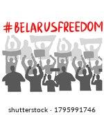 belarus freedom hashtag ... | Shutterstock .eps vector #1795991746