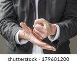 strong business man hands... | Shutterstock . vector #179601200
