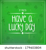 card for st. patrick's day ...