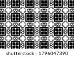 ornament with elements of black ... | Shutterstock . vector #1796047390