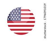 united states flag logo design... | Shutterstock .eps vector #1796091019